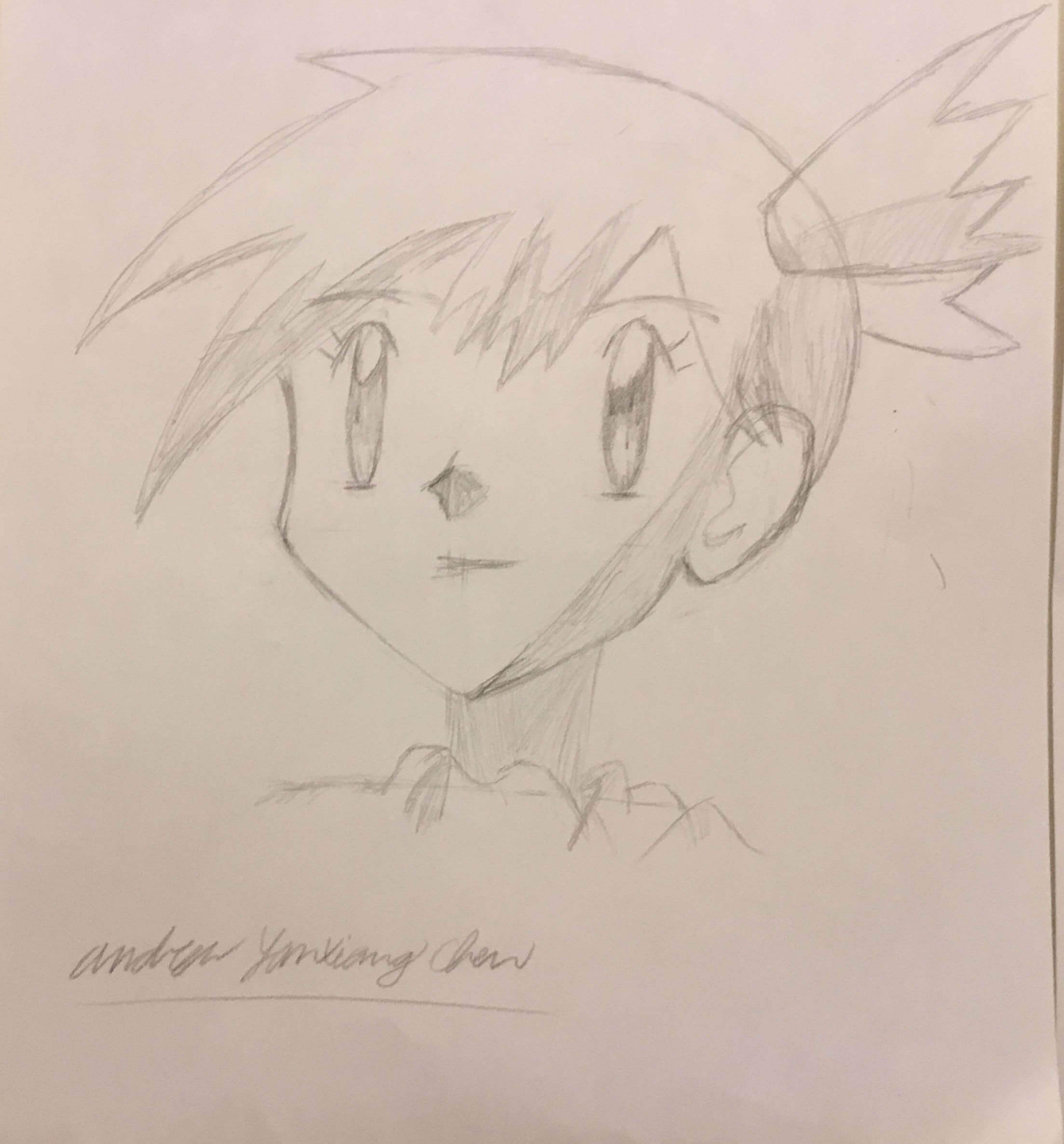 Drawing of Pokemon character, Misty.